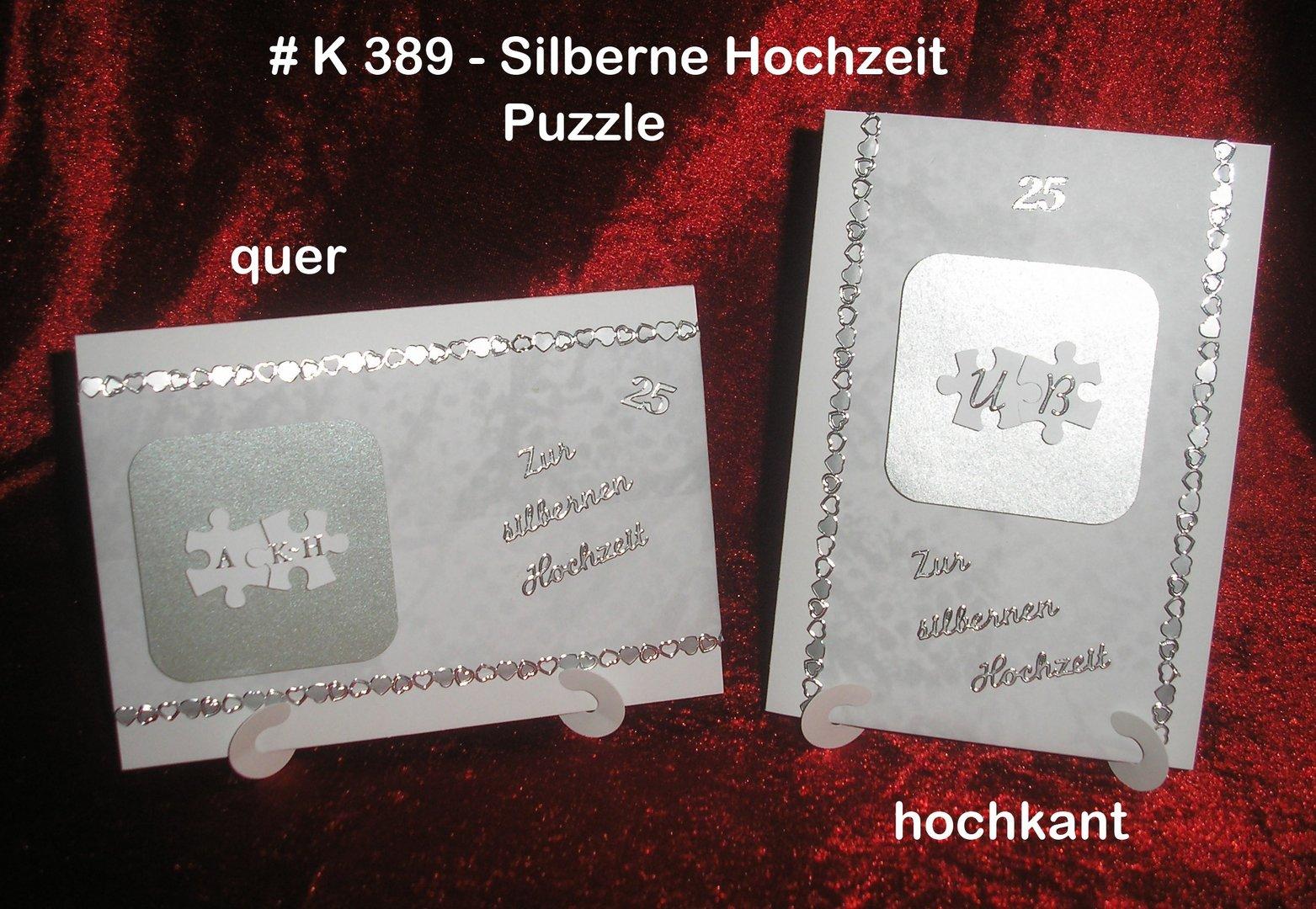 Karte Silberhochzeit Text.Karte Silberhochzeit Puzzle